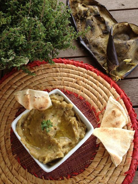 sweet kwisine, caviar d'aubergine, aubergine, purée, cuisine libanaise