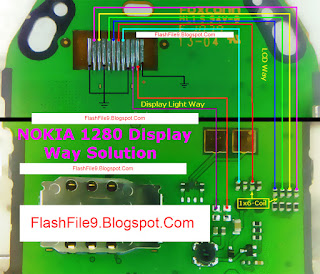 This post if you follow you can easily solve your Nokia 1280 LCD Ways Step By step. Before Make This jumper at first clean your device motherboard using NC thinner.