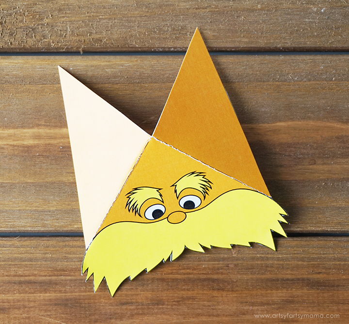 photo about Free Printable Corner Bookmarks titled Absolutely free Printable Lorax Corner Bookmark artsy-fartsy mama