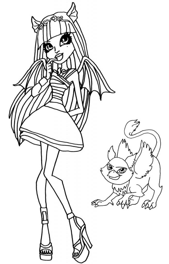 Monster High Desenhos Para Colorir