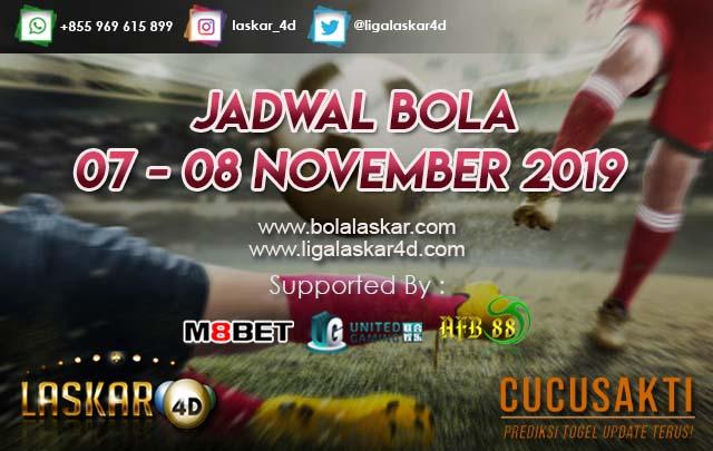 JADWAL BOLA JITU TANGGAL 07 – 08 NOVEMBER 2019