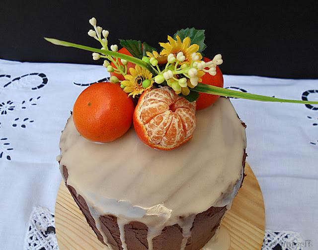 bolo de clementina cenoura e chocolate