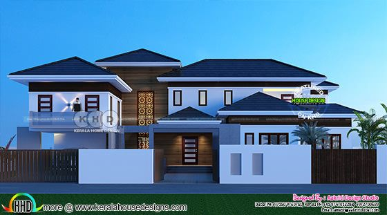 Grand stylish villa architecture design