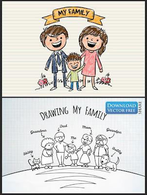 2-nen-do-hoa-ve-tay-ve-gia-dinh-cua-be-painted-family-vector-6490