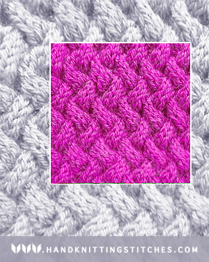 Hand Knitting Stitches - Basket Weave Cable Pattern