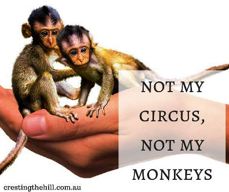 not my circus, not my monkeys - in other words....not my problem!