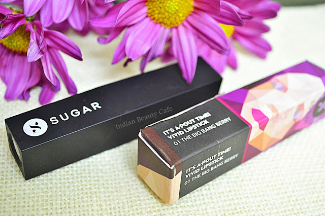 Sugar Its a Pout Time Vivid Lipstick The Big Bang Berry Packaging