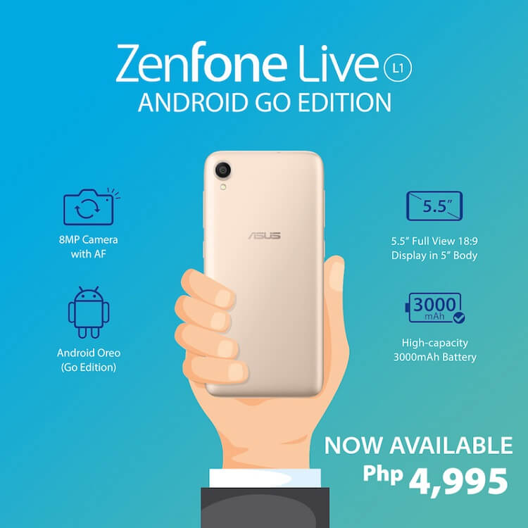 ASUS ZenFone Live L1 (Go Edition) Now in PH!