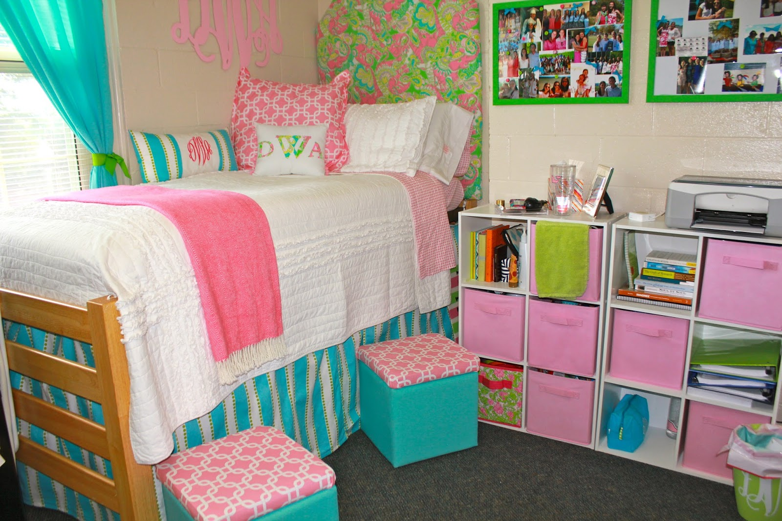 Miss southern prep preppy dorm showcase round 4 dorothy - Dorm room bedding ideas ...