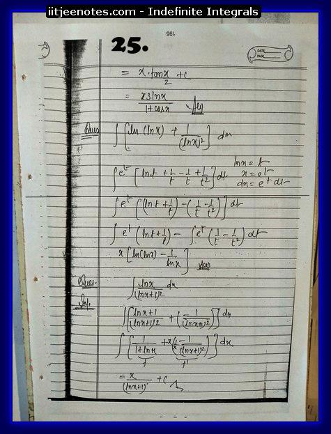indefinite integrals notes download1
