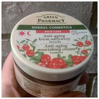 Green Pharmacy, Odżywczy krem do twarzy anti - aging `Żurawina`