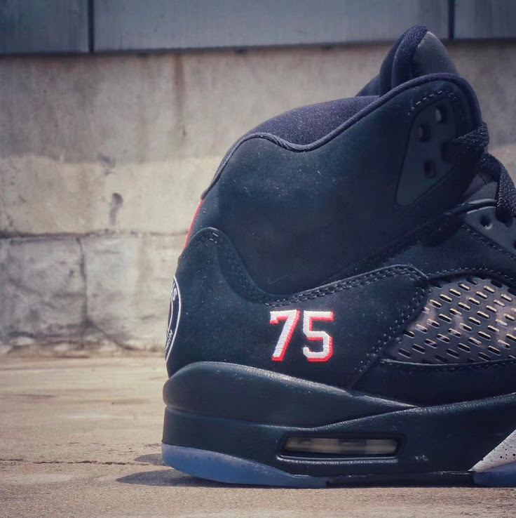 los angeles dad31 76150 Nike Air Jordan 5 Paris Saint-Germain Shoes Leaked - CR7 Gold