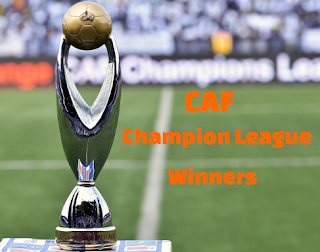 CAF Champions League winners, African Champions, results from 1965-2019.