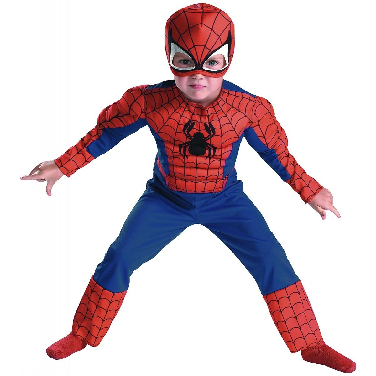 Kids love a superhero, especially a witty and fun character like Spider-Man, so this Spider-Man outfit would be perfect for a kids' Halloween party where you want to make the kids smile, not scream. It would even be a great choice for grade school Halloween parades, .