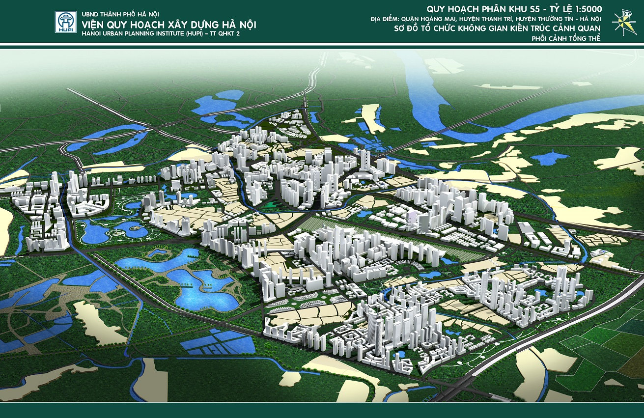 Không gian quy hoạch phân khu đô thị S5