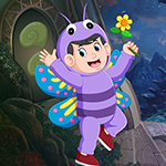 Games4king Butterfly Boy Rescue Walkthrough