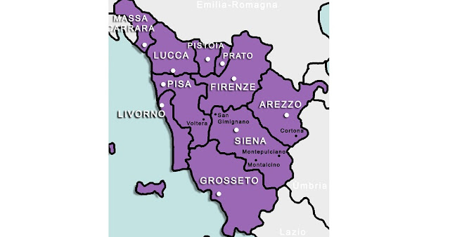 Mapa da Toscana