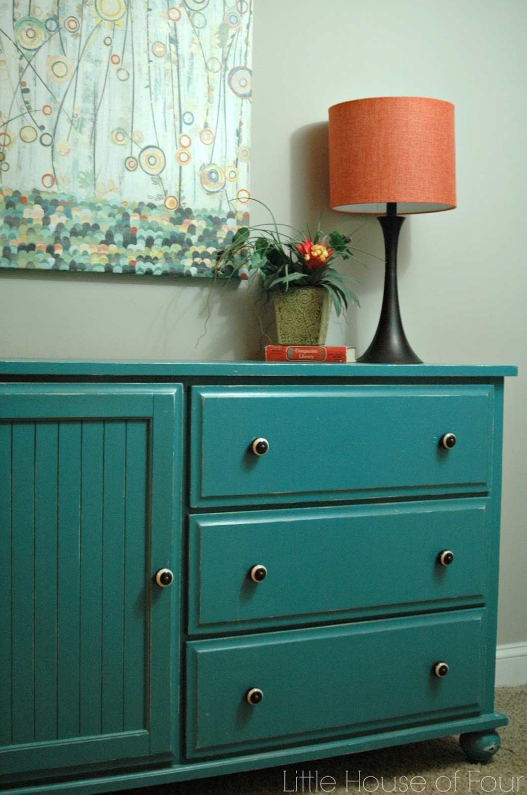 painted goodwill dresser
