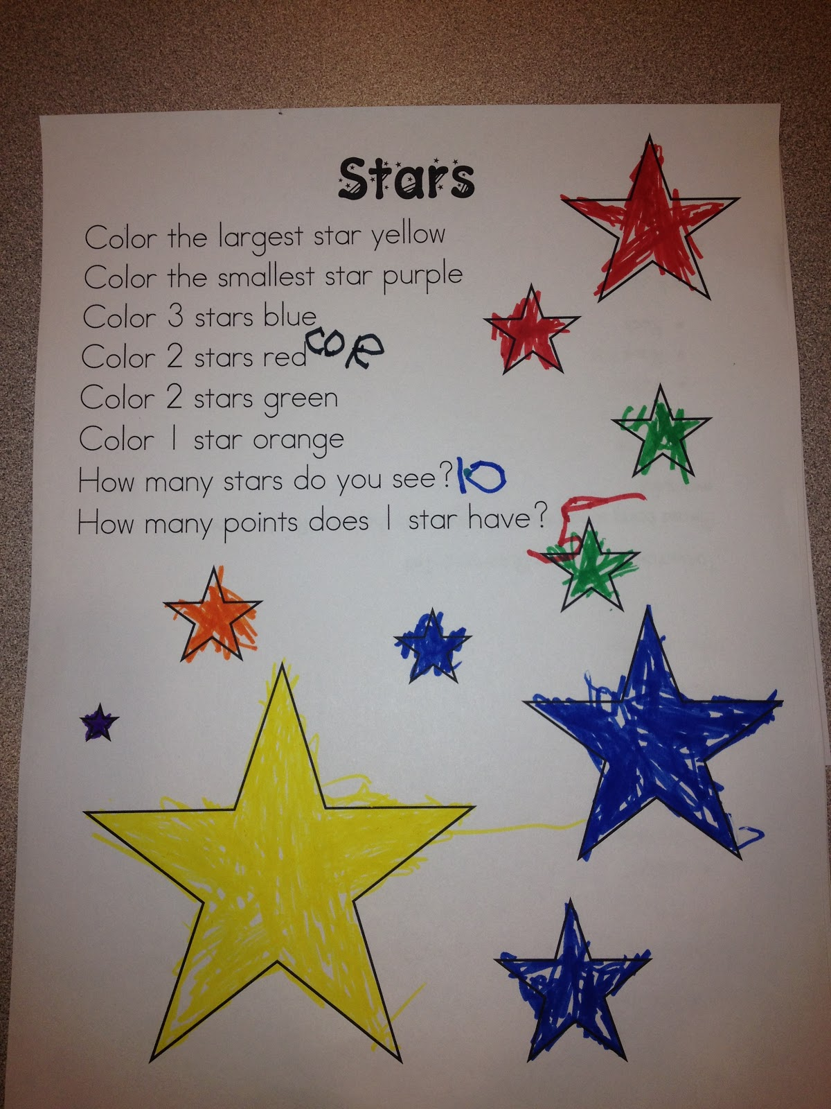 Stars Worksheet Kindergarten Stars Best Free Printable