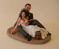cake topper personalizzati matrimonio statuine sposi torta nuziale orme magiche