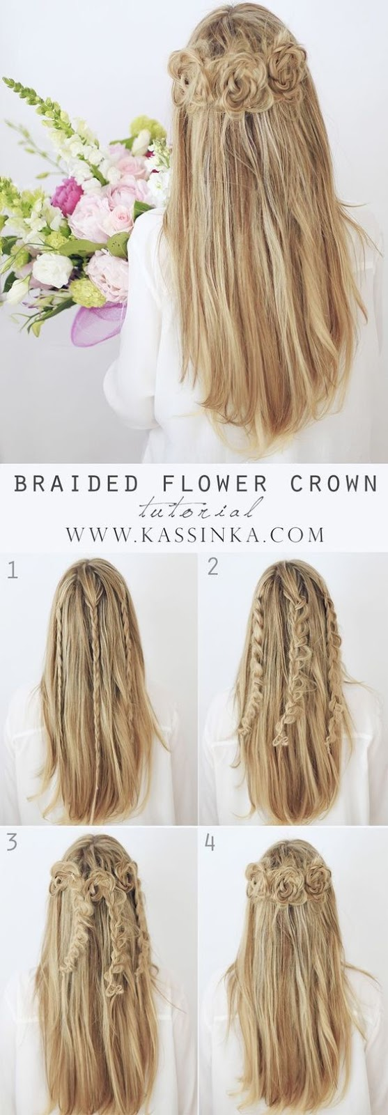 Braided Flower Crown Easy Women's Hairstyles