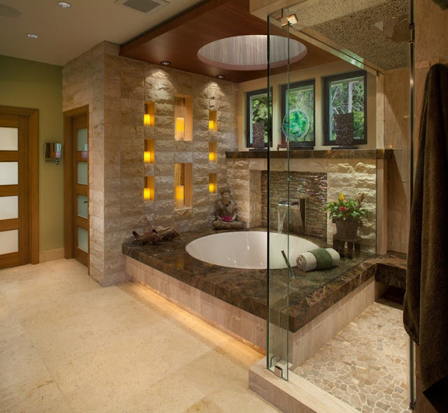A Light and Spacious bathroom with a Warm Interior in Kiev