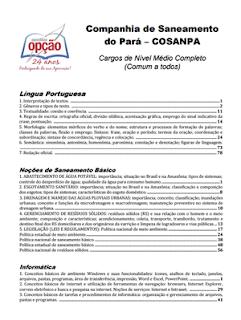 índice apostila Cosanpa 2017