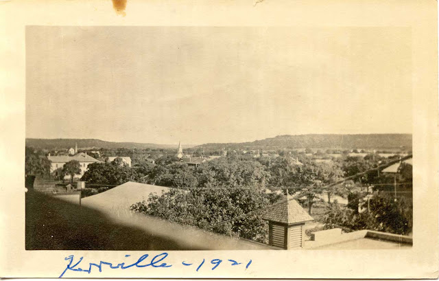 Kerrville Texas, around 1920, with Union Church
