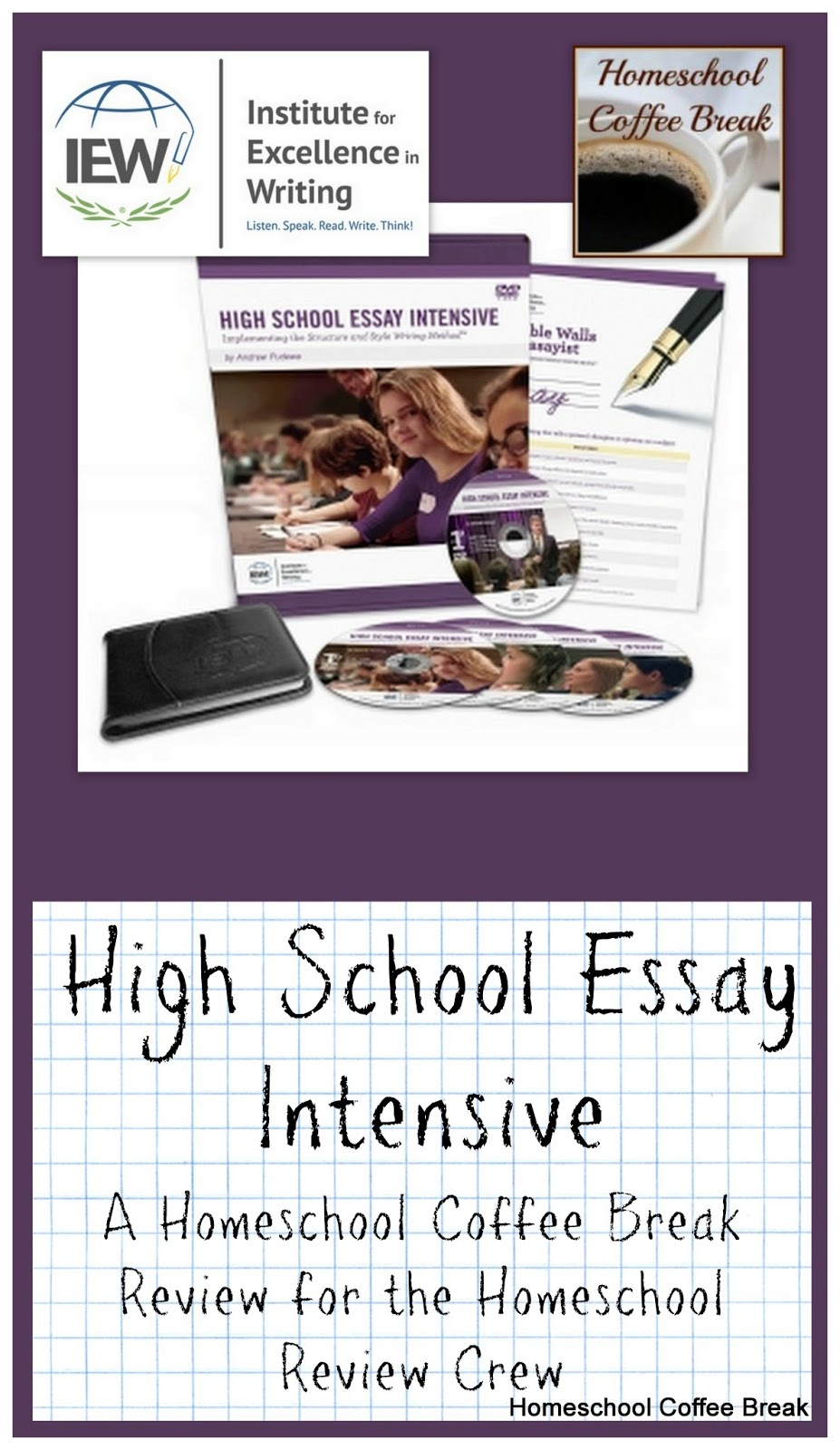 high school essay intensive High school & college prep essay writing course covers the writing process from the pre-writing to the revision stage.