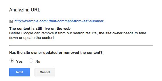 Cómo eliminar contenido obsoleto de Internet