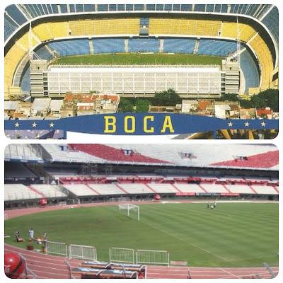Estádios do Boca Juniors e do River Plate