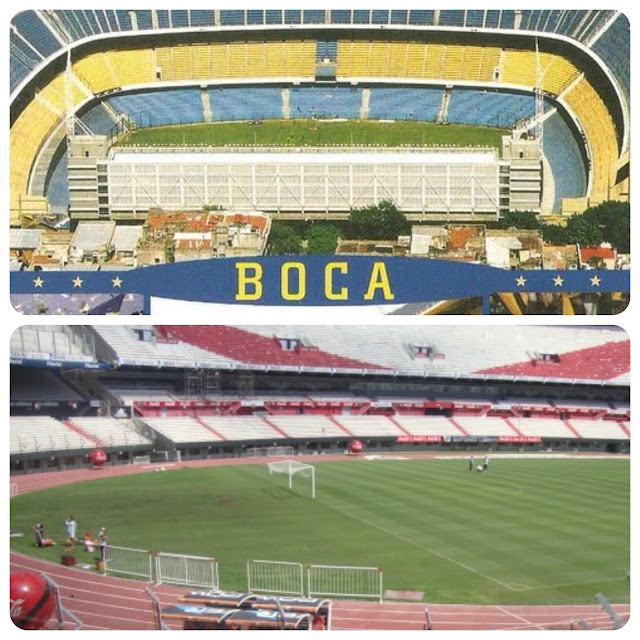Estádios do Boca Juniors e do River Plate