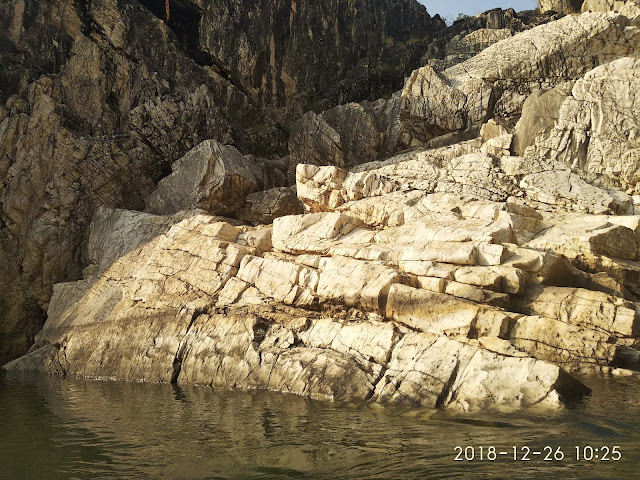 Close Shot of Marble Rocks