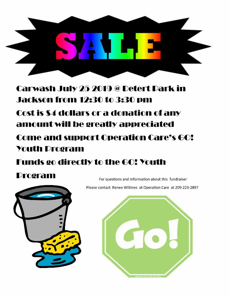 Operation Care: GO! Youth Car Wash Fundraiser - Thurs July 25