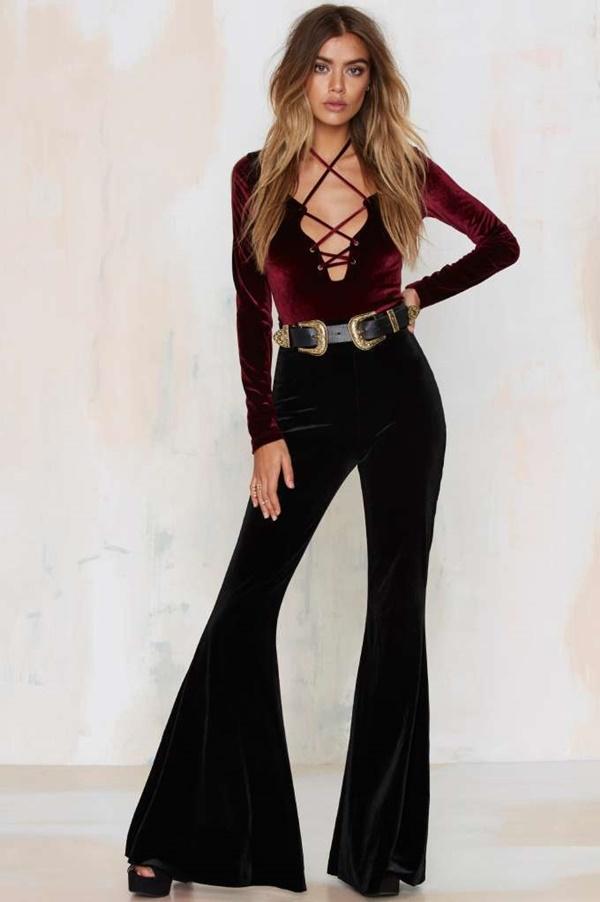 kadife-bluz-modası