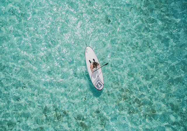 Paddleboarding in French Polynesia