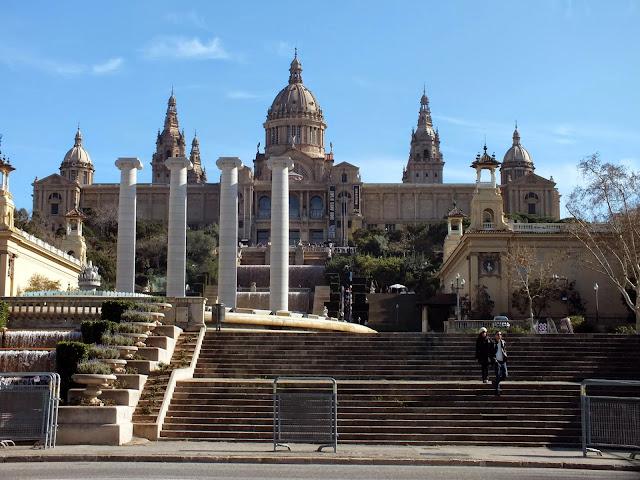 la Plaza de España en Barcelona