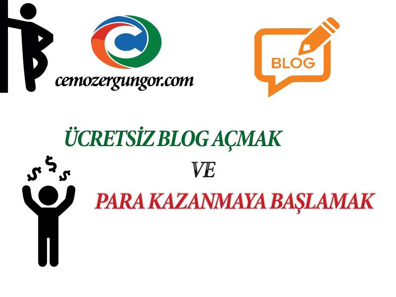 Ücretsiz Blog Açmak ve Para Kazanmak 2019