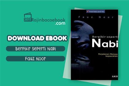 Download Ebook Berpikir Seperti Nabi by Fauz Noor Pdf