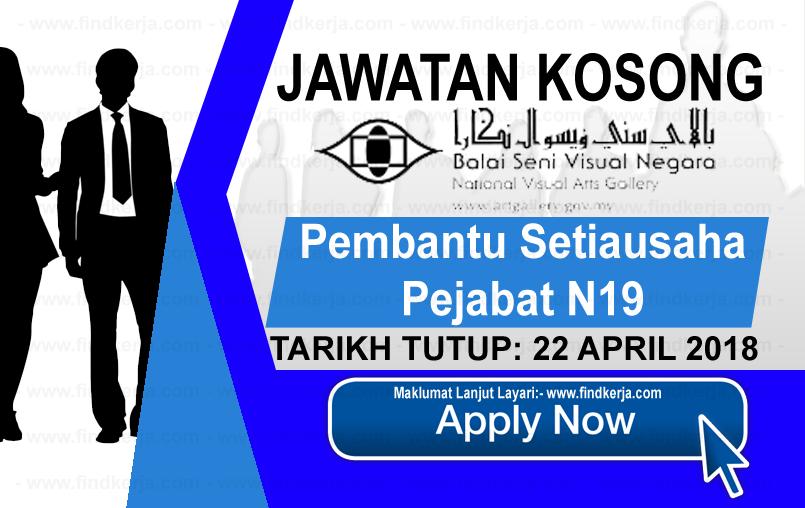 Jawatan Kerja Kosong LPSV - Lembaga Pembangunan Seni Visual Negara logo www.findkerja.com april 2018