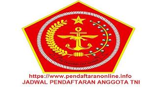 Jadwal Pendaftaran Anggota TNI 2019-2020