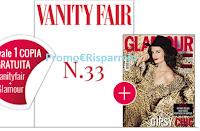 Logo Vanity Fair gratis + copia omaggio di Glamour