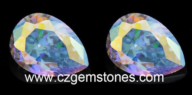 AB clor pear cut cubic zirconia wholesale