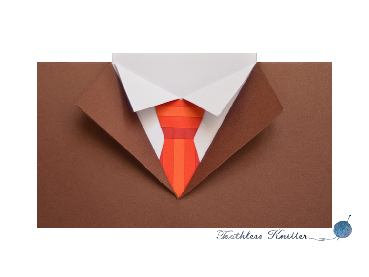 Suit and Tie Birthday Card / Garnitur z Krawatem - Kartka Urodzinowa