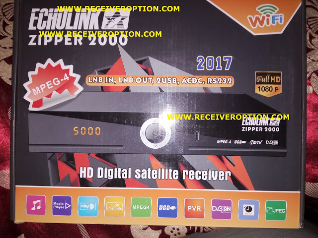 ECHOLINK ZIPPER 2000 HD RECEIVER AUTO ROLL POWERVU KEY NEW SOFTWARE