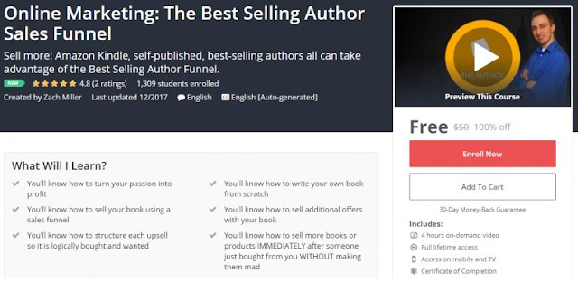 [100% Off] Online Marketing: The Best Selling Author Sales Funnel| Worth 50$
