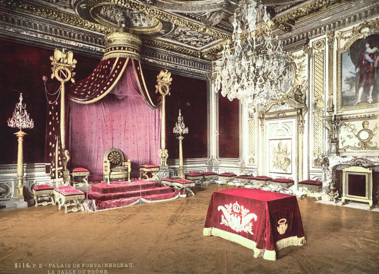 The throne room, Fontainebleau Palace.