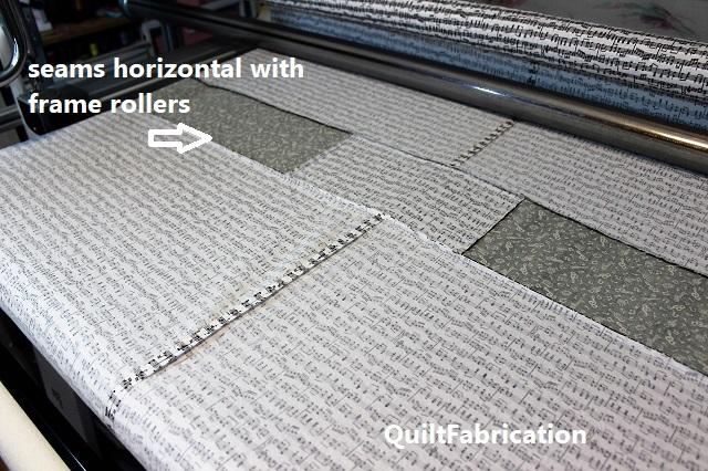 horizontal quilt backing seams