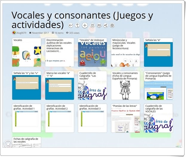 """""""16 Juegos, actividades y materiales para el aprendizaje de VOCALES Y CONSONANTES"""""""