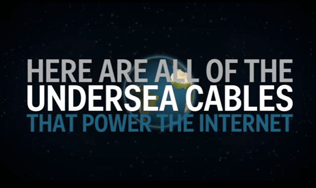 Animated Map of the World's Undersea Internet Cables